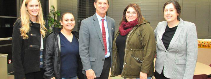 Dean Purtill with Empire Scholarship Recipients